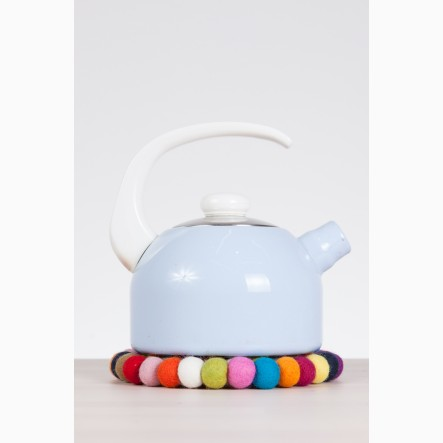 myfelt Lotte, round, colourful Pot Trivet, Ø 20 cm