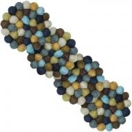 Otto — round Coaster in gray and brown (9 cm, Set of 4 pcs.)