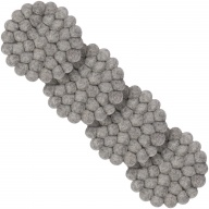 Carl — round Coaster in gray (9 cm, Set of 4 pcs.)