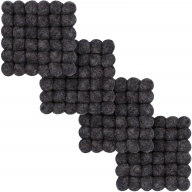 Hugo — square Coaster, anthracite (9 x 9 cm, Set of 4 pcs.)