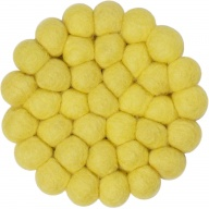 myfelt Malina round, yellow Glass Coaster, Ø 9 cm